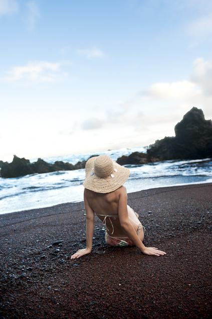 girl-on-red-sand-beach-hana