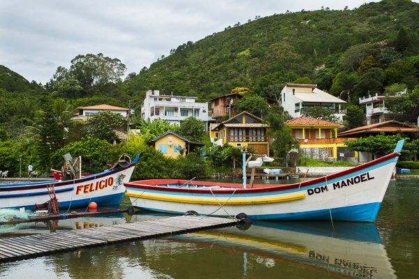barra da lagoa brazil boats