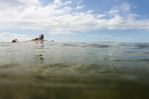 surfer in water in brazil