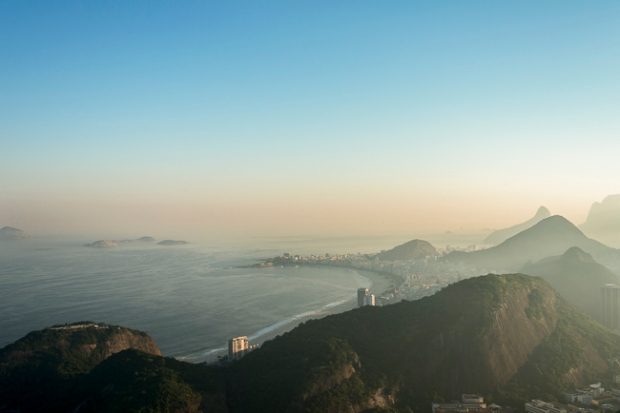 rio landscape at sunset