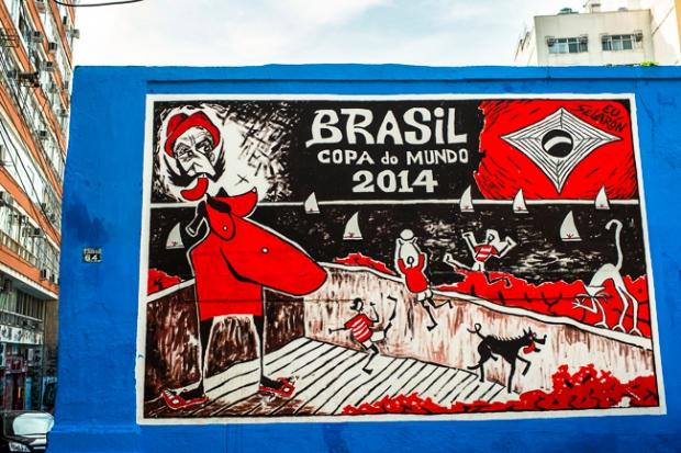 world cup street art