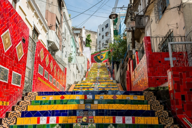 tiled stairs rio