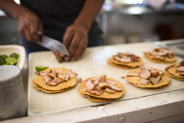 making tacos in mexico