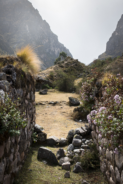 ruins on the lares trek